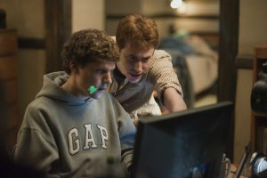 "Jesse Eisenberg, left, and Joseph Mazzello  in Columbia Pictures' ""The Social Network."""